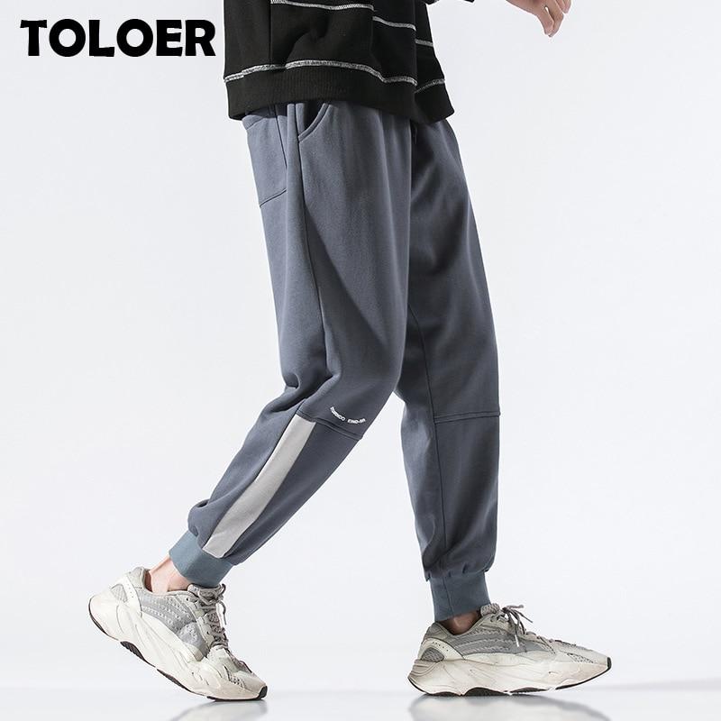 2020 Casual Pants Men Spring Summer Elastic Waist Ankle-length Men Harem Pants Sweatpants Streetwear Hip Hop Korean Sport Pants