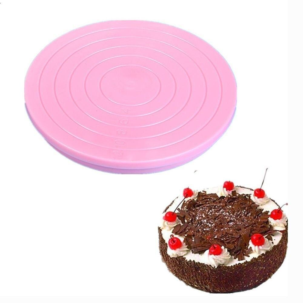 14 cm Kuchen Platte Plattenspieler 360 Grad Rotierenden Anti-Skid Runde Kuchen Stehen Kuchen Dekorieren Drehtisch Küche Backen werkzeug
