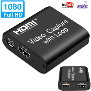 HD 1080P 4K HDMI Video Capture Card HDMI To USB 2.0 Video Capture Board Game Record Live Streaming Broadcast Local Loop Out