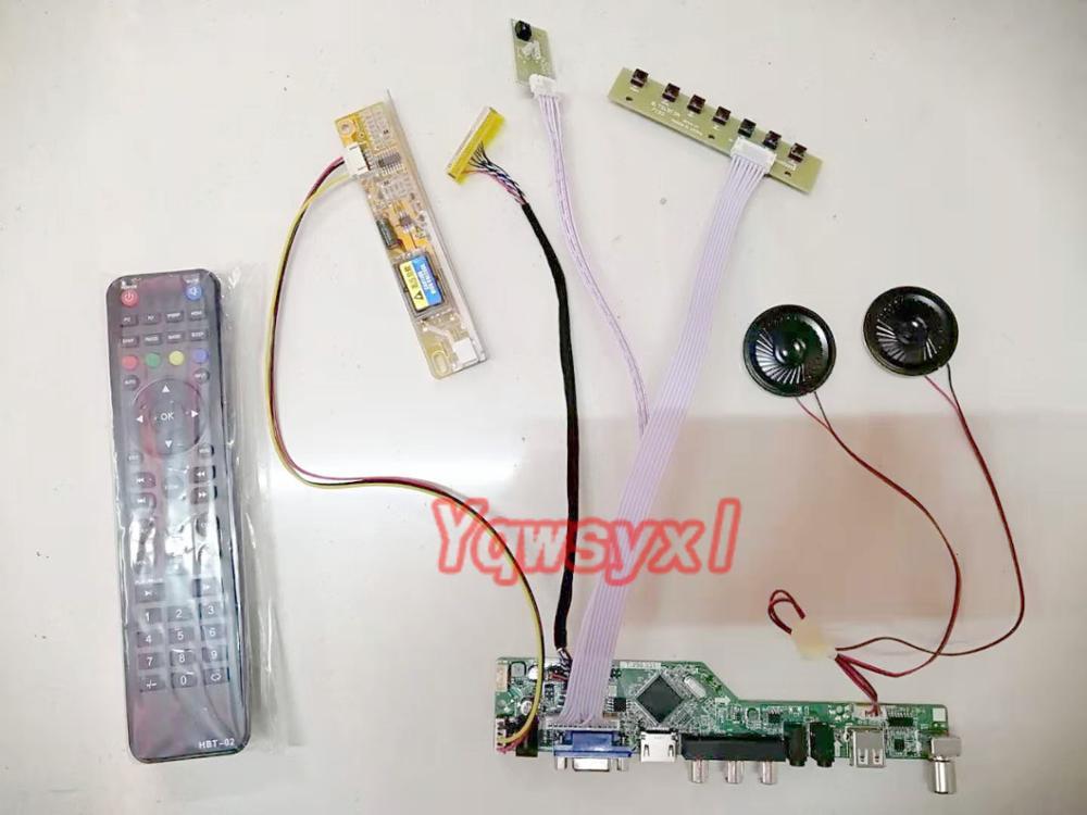 Yqwsyxl  With Speaker Kit For  B170PW03 V.4 V4  TV+HDMI+VGA+AV+USB LCD LED Screen Controller Driver Board