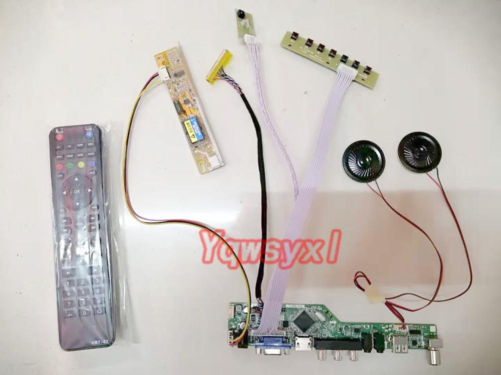 Yqwsyxl  With Speaker Kit For  LTN154AT07-T01  TV+HDMI+VGA+AV+USB LCD LED Screen Controller Driver Board