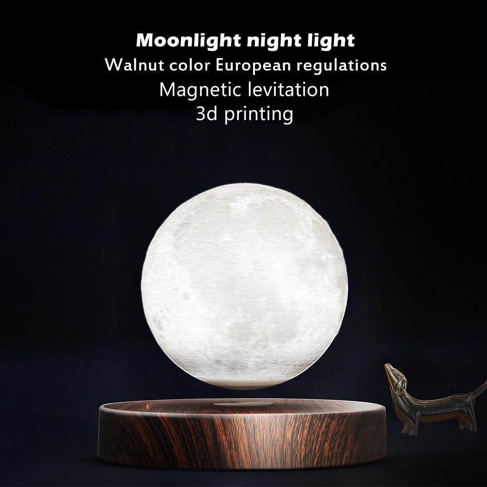 Lámpara de luz de Luna lámpara de escritorio de impresión 3D suspensión magnética para luz de hogar Luz de escritorio Luz de estudio luz Led Luz de cama
