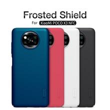 For XiaoMi Poco X3 Pro Case NILLKIN Frosted Shield PC Matte hard back cover Gift Holder For Xiaomi Poco X3 NFC Anti fingerprint
