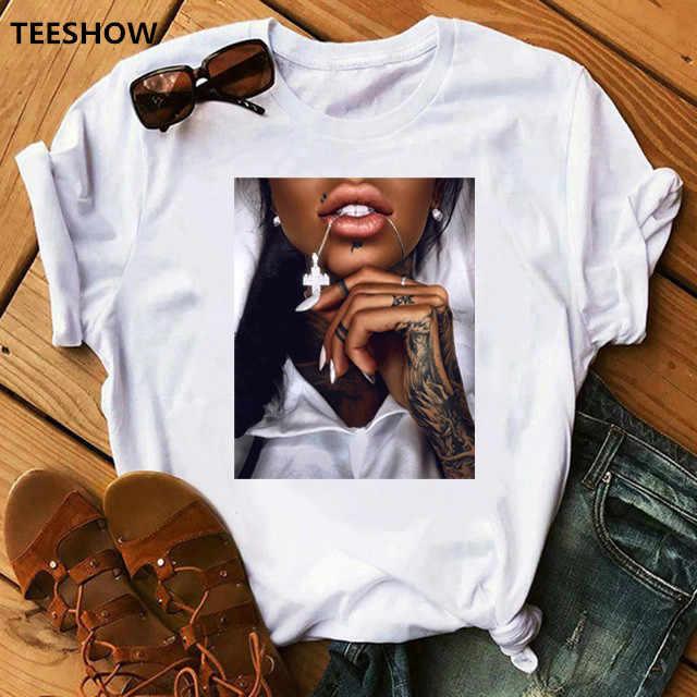 FIXSYS 여성 T 셔츠 인쇄 티 셔츠 o-넥 탑스 티셔츠 캐주얼 여름 스타일 여성 T-셔츠 패션 숙녀 재미 T-셔츠 화이트