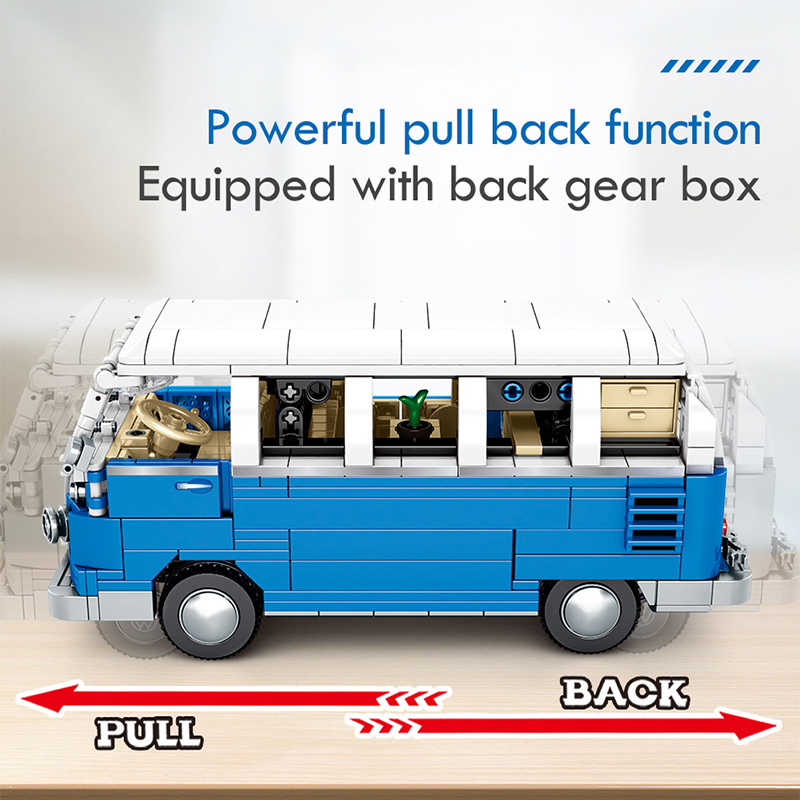 SEMBO Block Pull Back Classic Bus