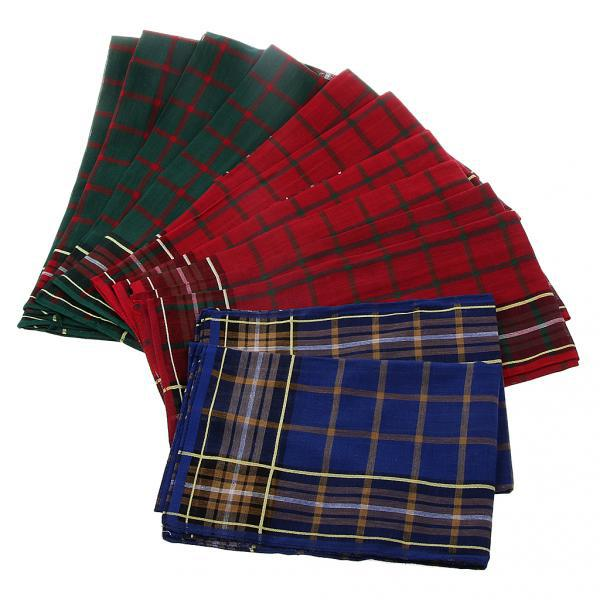 12pcs Men Vintage Square Hankerchief Hanky Wedding Party Handkerchiefs #2