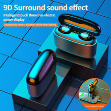 2021NEW Wirless Sport Bluetooth 5.0 Earphones Smart Touch and Waterproof Headphones with Microphone Headset