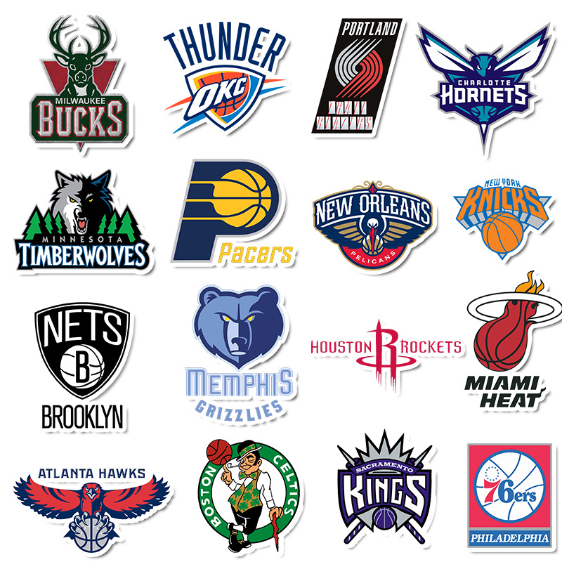 32Pcs Custom Stickers Logo Stickers Scrapbooking Papelaria Not Repeating Basketball Ball Marking Shoes Sticker Flakes