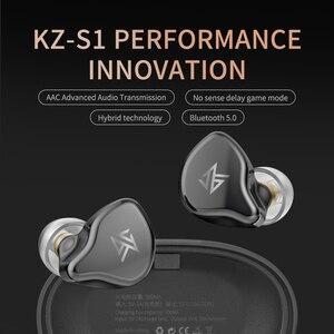 Image 4 - KZ S1/S1D TWS Auriculares auriculares inalámbricos con bluetooth con Control táctil, dinámicos e híbridos, deportivos, KZ S2 ZSNpro