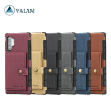 Luxury Leather Phone Wallet Case For Samsung Galaxy Note10 Plus 8 9 S10 plus PC TPU Cover samsung s10 note10 case