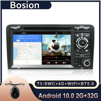 Bosion 7 inch HD 2 Din Car Radio Stereo Android 10.0 Quad Core DVD Player Multimedia Navigation GPS For Audi A3 8P 2003-2011 image