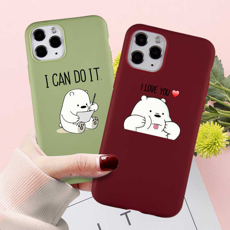 Simpatica custodia per telefono Panda divertente per iPhone 12 Mini SE 11 7 8 6s Plus Pro X XS MAX XR accessori per Cover posteriore in Silicone ...