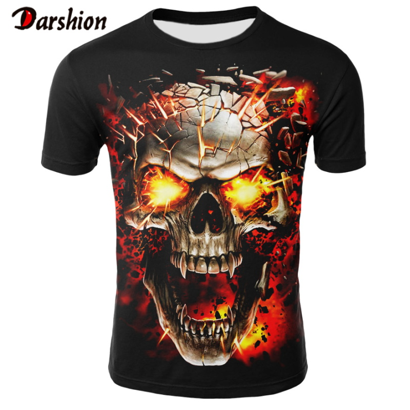 T Shirt Men 2020 Newest Skull 3D Print Cool Funny T-Shirt Men Short Sleeve Summer Tops T Shirt T Shirt Male Fashion T-shirts Men