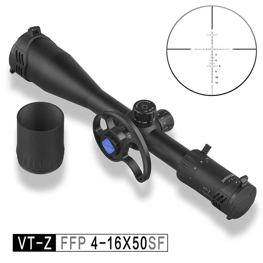 Discovery VT-Z 4-16X50SF FFP Hunting Rifle Scope First Focal Plane Side Wheel Parallax Glass Etched Reticle Shooting Sights(China)
