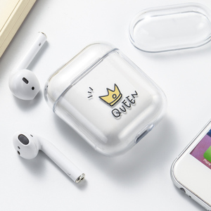 Image 2 - Case For Airpods Case Cute Luxury Lovely Heart Painted Transparent Hard Case On Airpod Protective Cover for Air Pods 1 2 Case