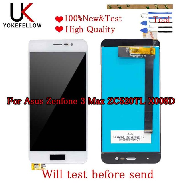 Good LCD 5.2 For Asus Zenfone 3 Max ZC520TL X008D LCD Display Touch Screen Panel Digitizer Assembly