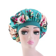 6 Colors Satin Bonnet Salon Night Hair Hat for Natural Curly Hair