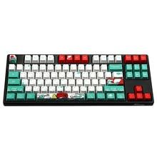 Mechanische toetsenbord keycap voor dz60/tkl87/poker/gk61 filco corante sublimação oem 108 chave russo coreano caráter japonês