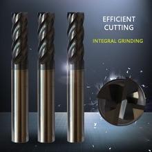 CNC Carbide CNC Solid Tungsten Steel Four Edge Milling Cutter CNC Milling Cutter End Milling Cutter 12 * 100 cnc 100