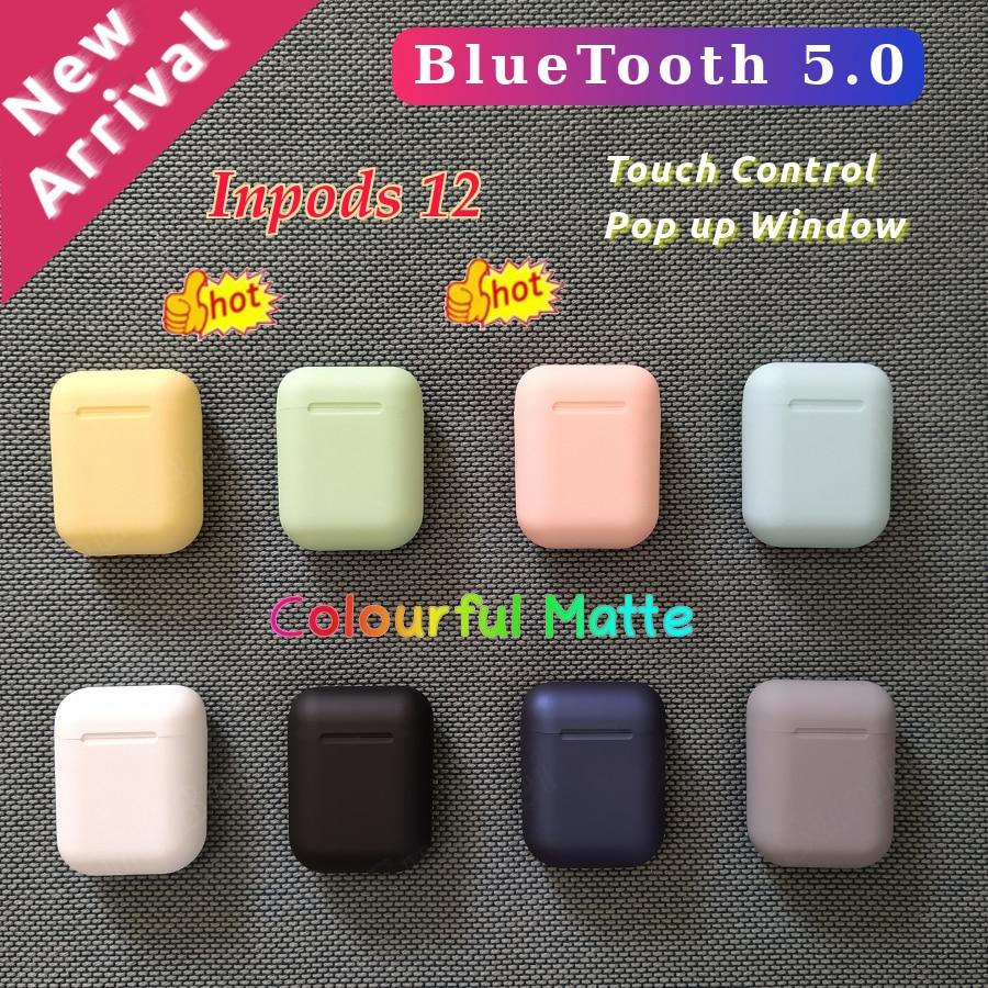 I12 Tws Original Inpods12 Bluetooth 5.0 Headphones Wireless Earphone Wireless Earbuds Stereo Headset PK I18 I20 I30 Tws I60 I100