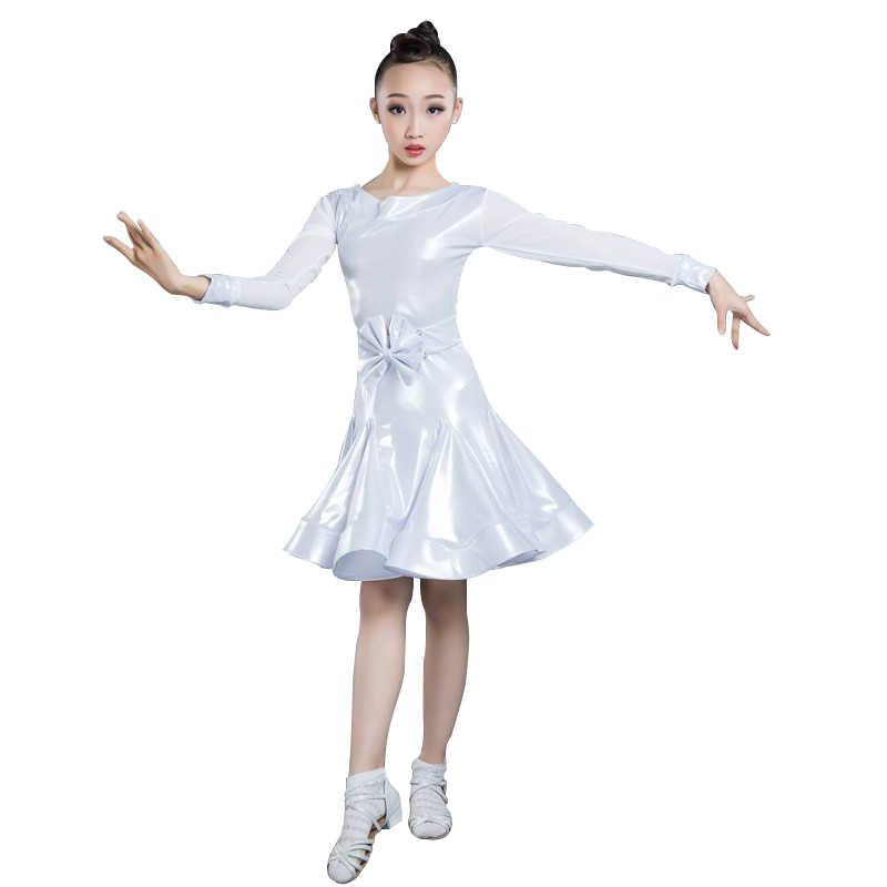 Neue Mädchen Ballsaal Tanzen Walzer Tango Kleid Kinder Salsa Bachata Latin Dance Kostüm Latin Tanzen Kleidung Für Verkauf