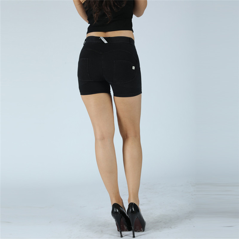 Four Ways Stretchable Melody Scrunch Bum Gym Shorts Black Stretch Jeans Women Champion Leggings Elastic Waist Jeans