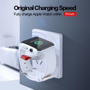 Image 2 - WK מיני אלחוטי מטען עבור אפל שעון סדרת 4 3 2 1 נייד מהיר מגנטי USB מטען לא מטען כבל מהיר תשלום Dock