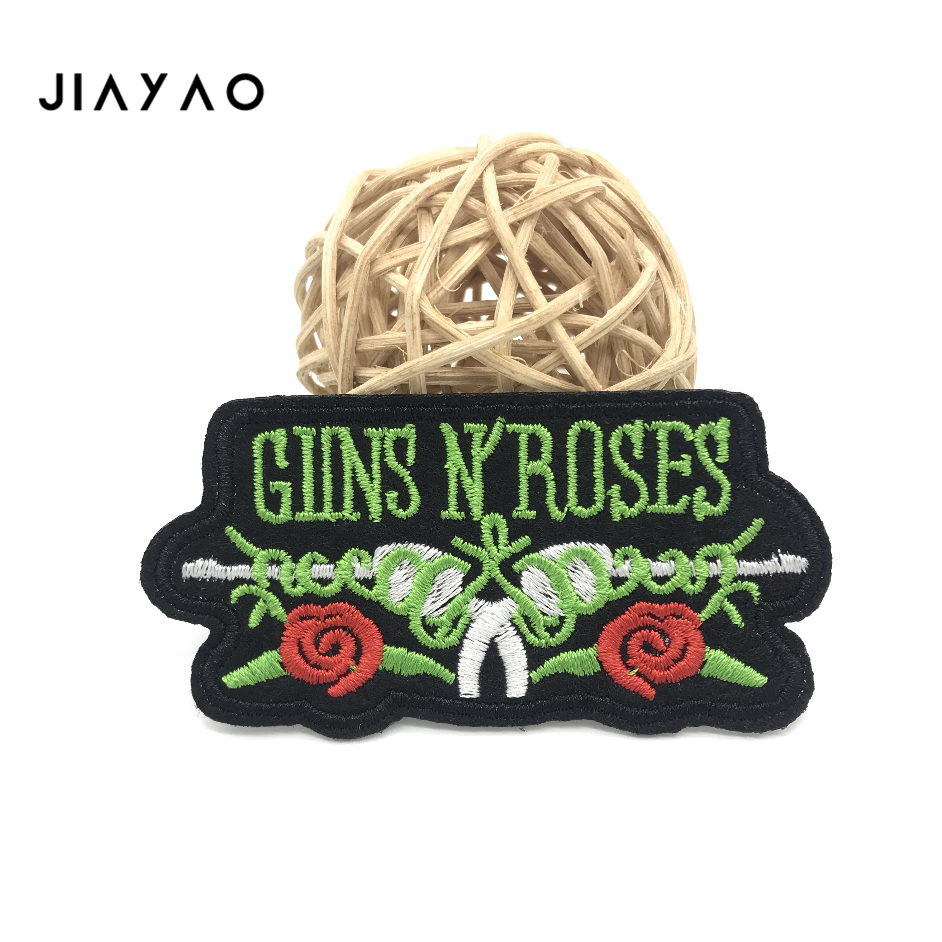 Купить с кэшбэком Rose Embroidery Patch clothing DIY patches creative badge sewing and ironing on clothes