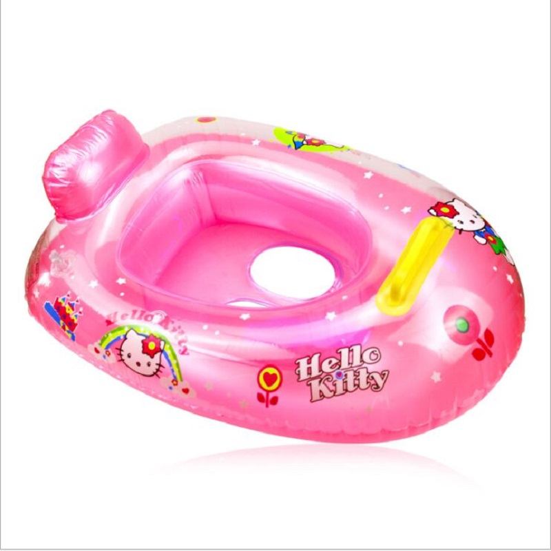 Inflatable Baby Swan Boat Paddle In The Water Baby Swimming Ring Children Seat Ring Inflatable Swimming Laps