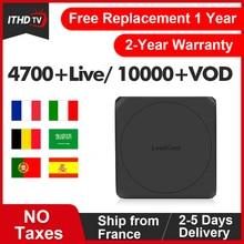 Leadcool W IPTV Italian/France/Arabic/India/Spain/Albania Subscription IP TV Android 7.1 French/Italian/Spain/France