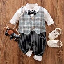 Malapina infantil macacão de bebê roupas da menina do bebê cavalheiro bebê primavera macacão meninos crianças batismo traje 0-24m