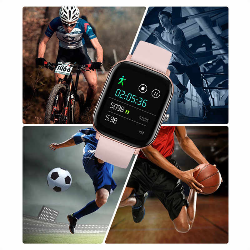 Luik Fashion Smart Horloge Voor Mannen Vrouwen IPX7 Waterdichte Fitness Tracker Led Full Screen Touch Hartslagmeter Sport Smartwatch