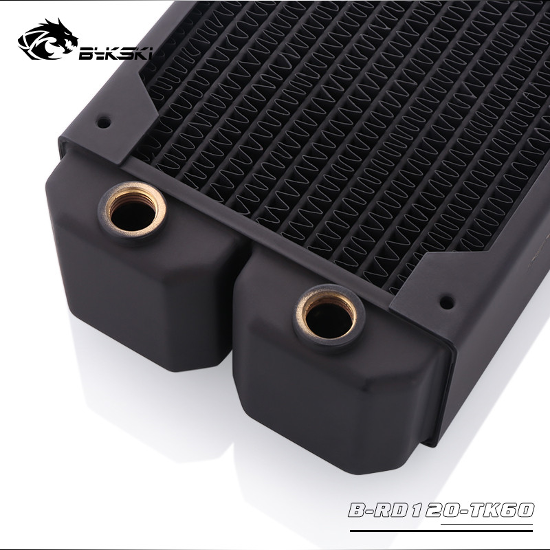 Image 4 - Bykski Water Cooling Copper Heatsink Case Cold Row Radiator 60mm  Thickness For 120*120mm Fans B RD120/240/360 TK60Fans
