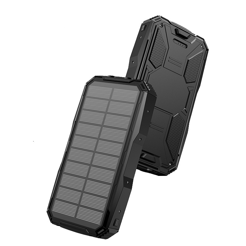 <font><b>Solar</b></font> <font><b>Power</b></font> <font><b>Bank</b></font> <font><b>20000mAh</b></font> Powerbank For Xiaomi iPhone Samsung 2 USB Portable Charger <font><b>External</b></font> <font><b>Battery</b></font> Poverbank with Flashlight image