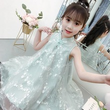 Summer Dress For Girls Bohemia Style Beach Lace Kids Mesh Wedding Dresses Teenage Girl Clothes 6 8 10 12 14 Years infantil