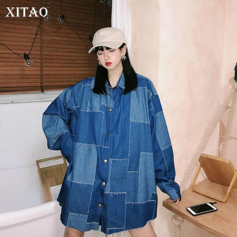 XITAO Plaid Women Plus Size Jacket Fashion New Women 2020 Spring Single Breast Full Sleeve Goddess Fan Casual Coat DMY3269