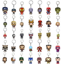 Marvel DC comics Keychain 20pcs/Lot Wholesale Guardian of the Galaxy Groot Batman Spiderman Thor Hulk Thanos Flash key chain(China)