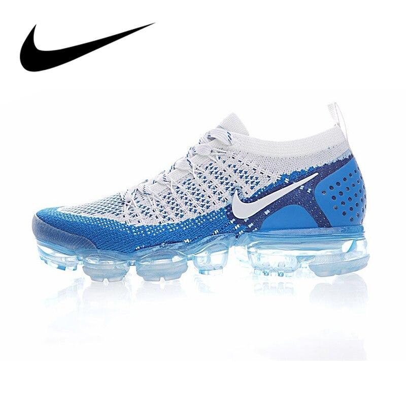 Original autêntico nike ar vapor max flyknit 2.0 tênis de corrida masculino tendência respirável ao ar livre sapatos esportivos selvagens 942842-104