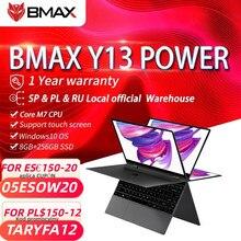Bmax y13power intel core m7-6Y75 360 ° portátil 13.3 polegadas notebook windows 10 8gb lpddr4 256gb ssd 1920*1080 ips tela de toque laptops