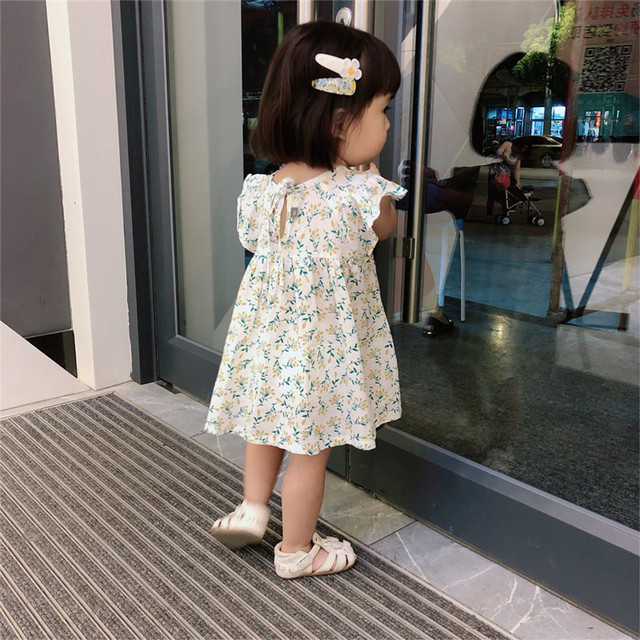 Summer Baby Girls Dress 2020 New Korean Style Cotton flroal Short Sleeve loose dress girls Casual cute Princess dresses
