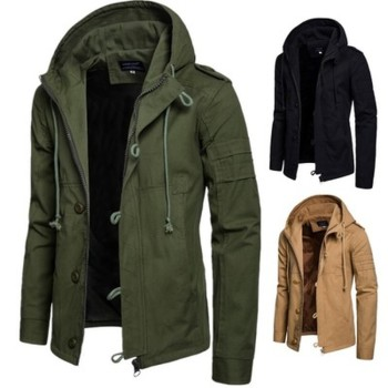 Men's Army/Military Style Wide-waisted Coat