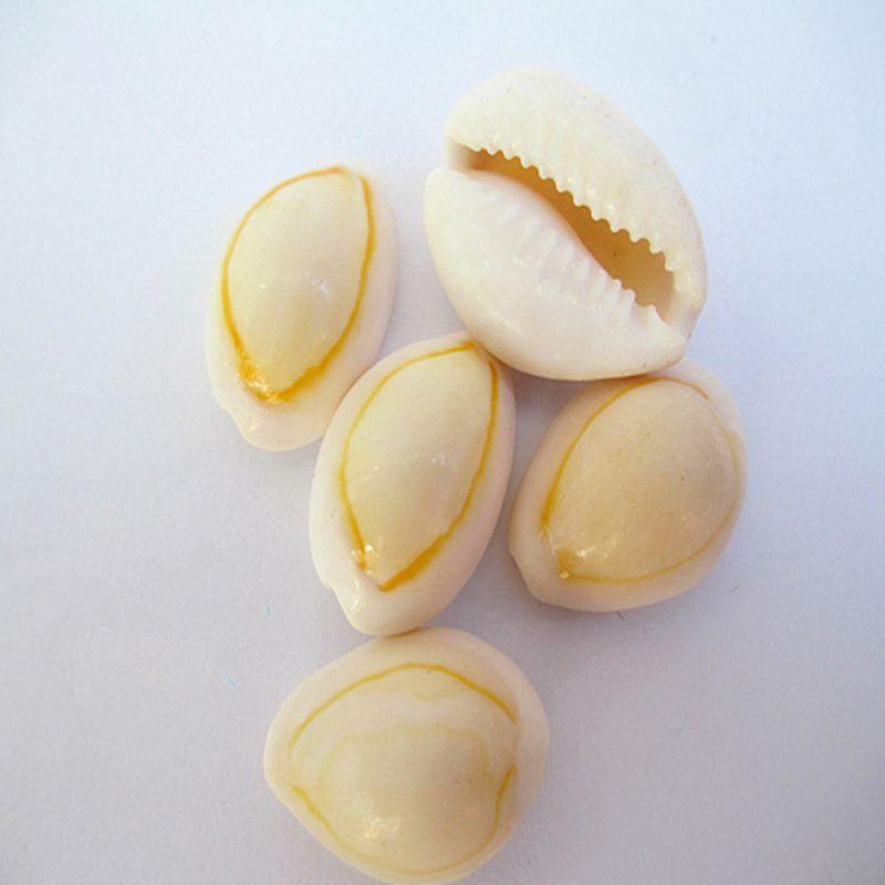 50pcs/set Cute Natural Sea Shell Loose Beads Accessories 14-16mm Conch Seashells Ornament Fish Tank Decor