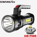 Самый мощный светодиодный фонарик XIWANGFIRE с несколькими режимами, USB + cob фонарь + COB босветильник светильник со встроенным аккумулятором для л...