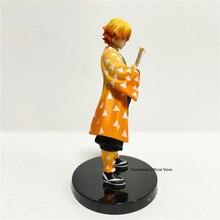 Tueur de démons Kimetsu no Yaiba Agatsuma Zenitsu tonnerre et Flash jouet Figurine Anime démon tueur PVC Figurine