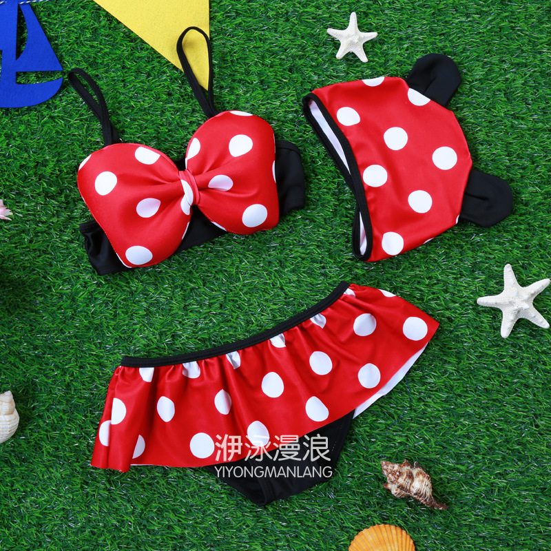 New Style Tour Bathing Suit KID'S Swimwear One-piece Hooded GIRL'S Bathing Suit Mickey CHILDREN'S Swimsuit Infants Tour Bathing