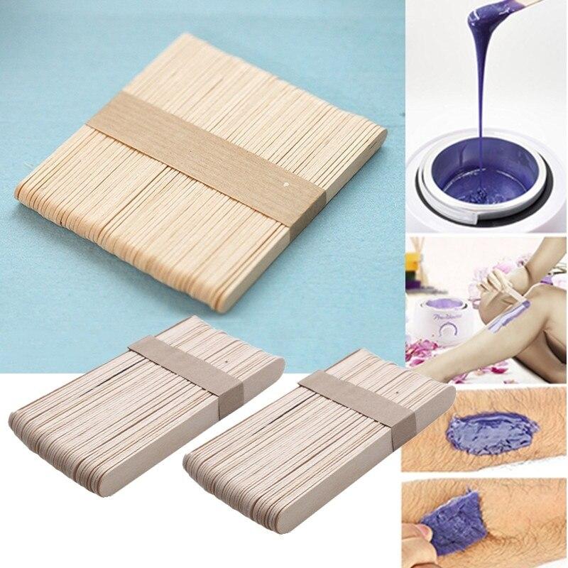 50pcs Wooden Wax Sticker Spatula