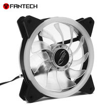 NEW FC-124 PC Desktop Tower Computer Fan Case Cooling Fan Unit Colorful LED Powerful Cooling Fans#T2(China)