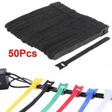 50pcs Reusable Durable Easy Mark Nylon Cable Ties Tag Labels Plastic Loop Ties Markers Cable Tag Self-locking Zip Ties 6 Colors