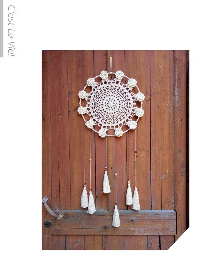 Один кусок ручной работы Ловец снов кисточки украшения стены креативный кулон подарок - 3
