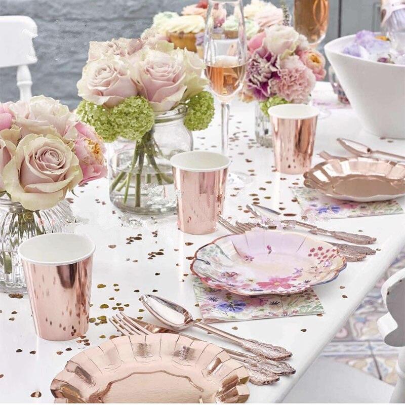 TEAM BRIDE ROSE GOLD TABLE CONFETTI